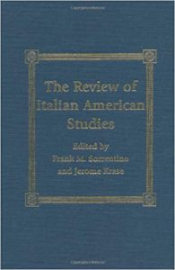 Book Cover: The Review of Italian American Studies